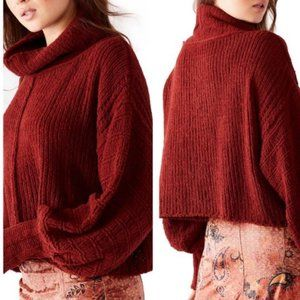 NWT FREE PEOPLE CRANBERRY PULLOVER SWEATER